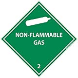DL6AP National Marker Dot Shipping Label, NON-FLAMMABLE Gas 2, 4 Inches x 4 Inches, Ps Vinyl (Pack of 25)