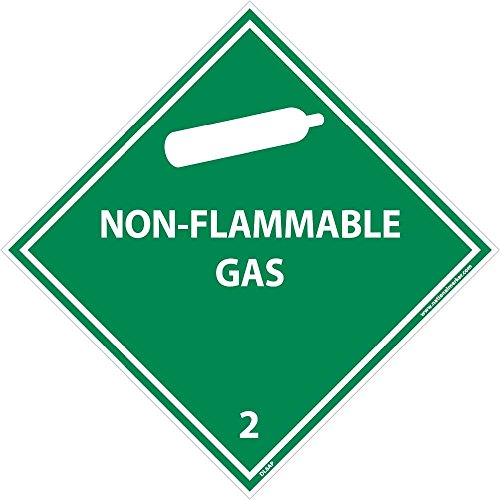 DL6AP National Marker Dot Shipping Label, NON-FLAMMABLE Gas 2, 4 Inches x 4 Inches, Ps Vinyl (Pack of 25) by National Marker