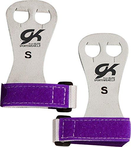 (GK Elite Beginner Gymnastics Hand Grips (Purple, M))