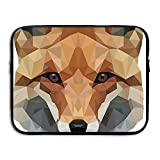 Summer Moon Fire Laptop Sleeve Bag Fox Head Cover Computer Liner Package Protective Case Waterproof Computer Portable Bags