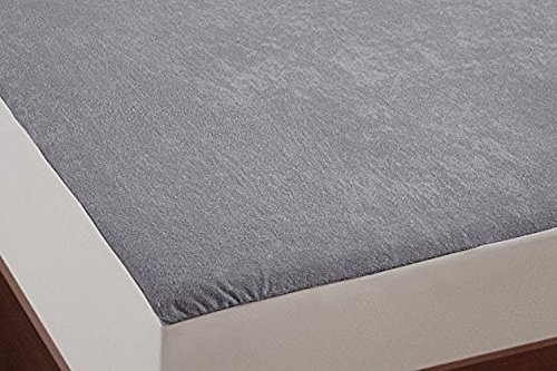 AVI Waterproof Dustproof Hypoallergenic Small Bed Fitted Mattress Protector - (36 X 72 Inches)-Light Grey
