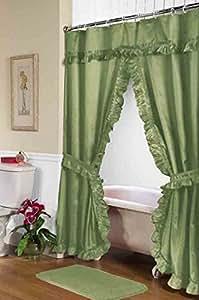 simple elegance double swag diamond piqued peva non toxic shower curtain 70 x 72. Black Bedroom Furniture Sets. Home Design Ideas