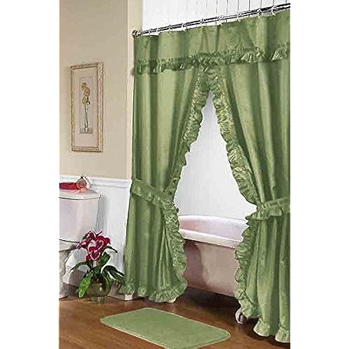 Bathroom Curtain With Matching Bath Window Amazon