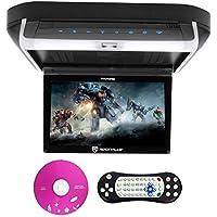 Rockville RVD10HD-BK 10.1 Flip Down Monitor DVD Player, HDMI, USB, Games, LED