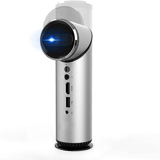 MKYYLV Mini Proyector Wi-Fi Inteligente con Lente Girada De 90 ...