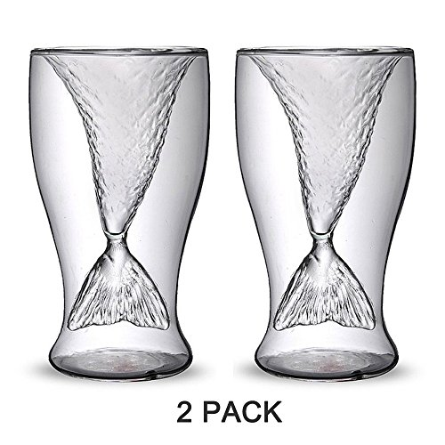 Homecube Creative Mermaid Handmade Glass Cup, D...