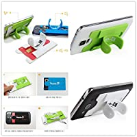 Multi-function Universal Colorful Silicone Touch-U U Wing One-touch Adhesive ALL Phone Pouch Holder Cradle Stand Bracket Flexible For SmartPhone Card Holder, Money Clip or Credit Card Case Stick-On Wallet making Your Smartphone turn into Wallet Case Cord Winder Cable Mount On Car Desk Dashboard Table Bed Kitchen Portable Grip Positioning Device Support Hanging Mount Smart Cell Phone Camera For Apple iPhone6 5 5s 5c 4 4s, iPod touch, Samsung Galaxy S5 S4 S3 Note 3 2, HTC One,Google Nexus 5, Cell Phone, Mobiles Android Phone Tablet Ipad PAD, MP3, MP4, GPS, PA Home Office Travel Use (3Pc Card Holder Phone Stand)