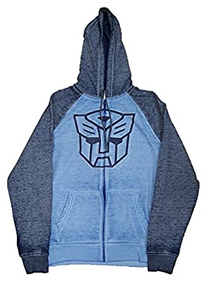 Transformers Autobots Blue Graphic Zipper Hoodie