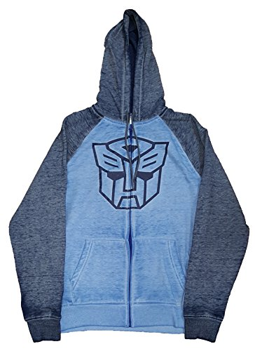 Fashion Transformers Autobots Blue Graphic Zipper Hoodie - Large