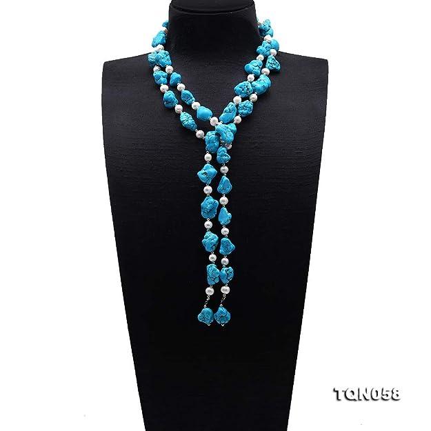 FIANDHJS Black Long Tassel Maxi Necklaces Colorful Collar Big Statement Chain Black Ethnic Boho Necklaces/&Pendants for Women