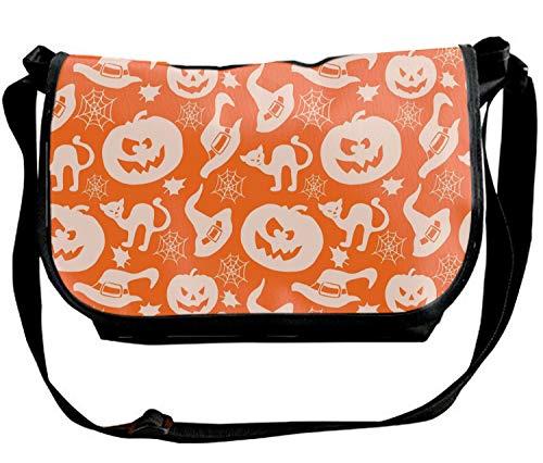 Unisex Happy Halloween Kitty Design Single Shoulder Sling Bag for Women & Men]()