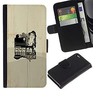 Stuss Case / Funda Carcasa PU de Cuero - Cartel del vintage - Apple Iphone 4 / 4S