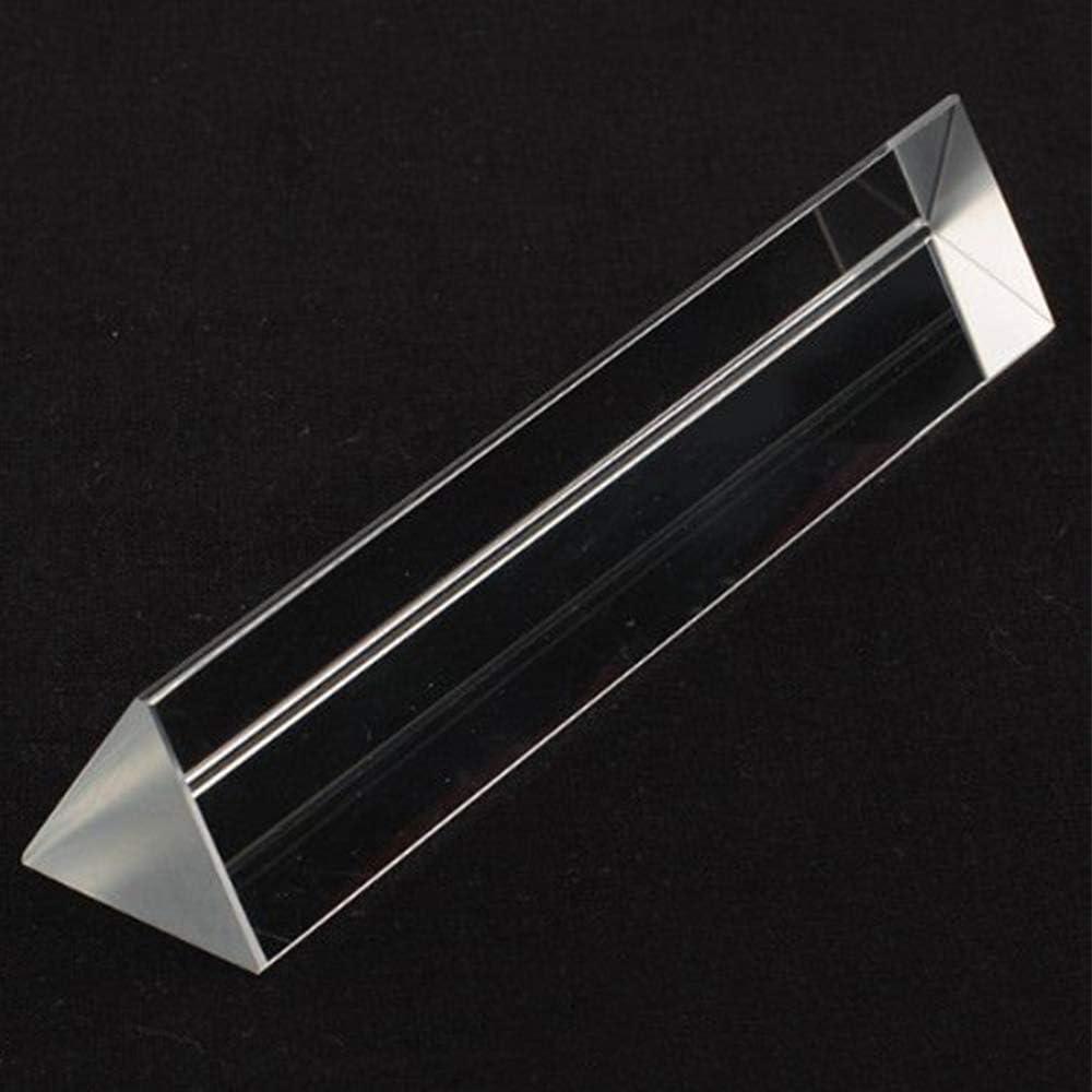 MarsGeek 6 inch Optical Glass Triangular Prism for Multi Colors Spectrum Physics Science Teaching Rainbow Maker Sun Catcher