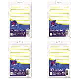 Avery Print or Write File Folder Labels for Laser and Inkjet Printers, 1/3 Cut, Yellow, Pack of 252 (5209), 4 Packs