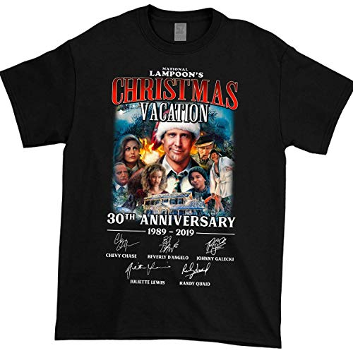 National Lampoon's Christmas Vacation 30th Anniversary 1989-2019 T-Shirt Black
