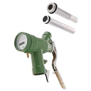 FLAMEER LLY-25 Dispensador de Boquilla de Aceite Diesel de Gasolina de Combustible Manual + Medidor de Flujo Digital: Amazon.es: Bricolaje y herramientas