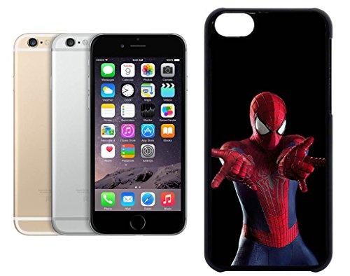 Cas de l'iPhone 6. Plastique noir avec High Gloss Imprime Inserer - The Amazing Spiderman