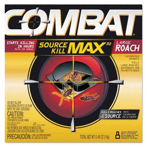 Combat Roach Bait Insecticide, 0.49 oz Bait, 8/Pack - Includes 12 packs of 8 baits. by Combat