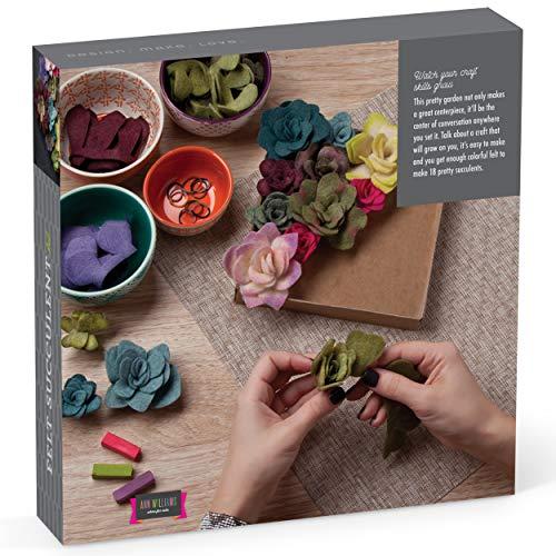 Craft Crush – Felt Succulents Kit – Craft Kit Makes One DIY Garden-Like Décor Piece