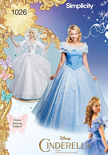 Costume Fairy Pattern (Simplicity Creative Patterns US1026H5 Disney Cinderella and Fairy Godmother Misses Costumes, Size)