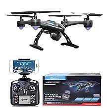 Contixo F5 Quadcopter Drone 720P Wi-Fi Live FPV HD Video Camera, Black