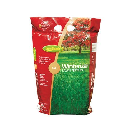 Green Thumb Premuim Winterizer Lawn Fertilizer 24-0-12 1500 SqFt Phosphorus Free