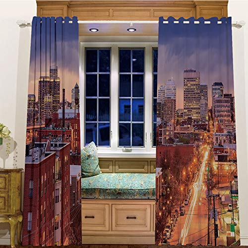 - Rings top Window Panels Blackout Curtains for Kids Room 2 Curtain Panels,84