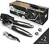 Can Opener Manual by QWESEN with 2 Spare Blades & Corkscrew...