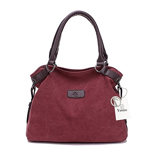 Size para Grey One Yoohobo0033 Yoome Gris Mujer al Hombro rosso Bolso Beige vXqTwq