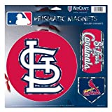 """WinCraft MLB St. Louis Cardinals Prismatic Magnets Sheet, 11""""x11"""", Team Color"""