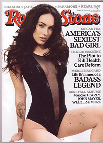 Rolling Stone Issue # 1088 Oct. 1, 2009 Megan Fox, America's Sexiest Bad - Rolling Stone Jam Pearl