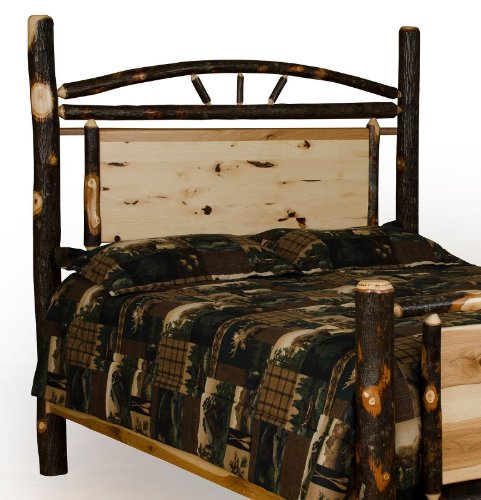 Furniture Barn USA Rustic Hickory Panel Bed - Headboard Only - Twin Size- Amish Made