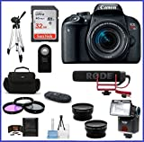 Canon EOS Rebel T7i DSLR Camera with 18-55mm Lens Video Creator Kit (13 Piece Bundle)