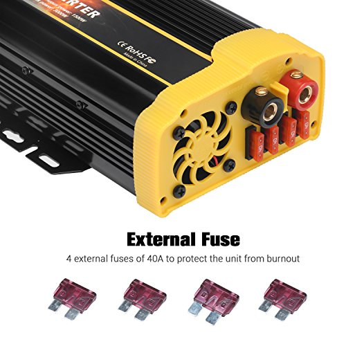 Vetomile 1500W Power Inverter DC 12V to AC 110V Car Inverter with 2.1A Dual USB Car Adapter by Vetomile (Image #7)
