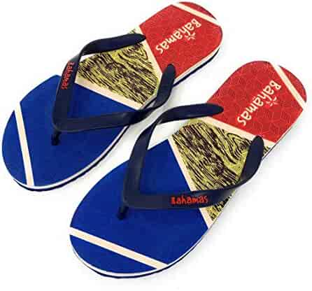 43f5b5dc7 Bahamas Mens Flip Flops Premium Comfort Thong Soles Sandals Slippers  Tropical Beach