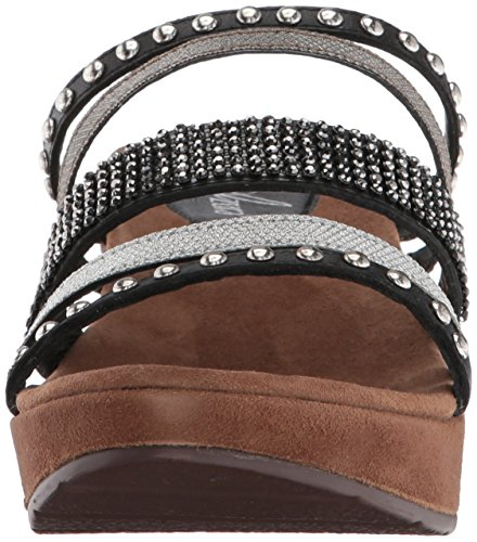 Spring Oletha Sandal Wedge Multi Step Women Black zRTfFzwxrq