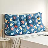 Double bed headrest / lumbar pillow / sofa backrest / triangular cushion / soft bag on the lumbar support ( Size : 1503060cm )