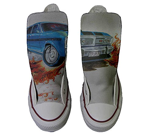 Converse Customized Chaussures Personnalisé et imprimés UNISEX (produit artisanal) avec Chevrolet - size EU36