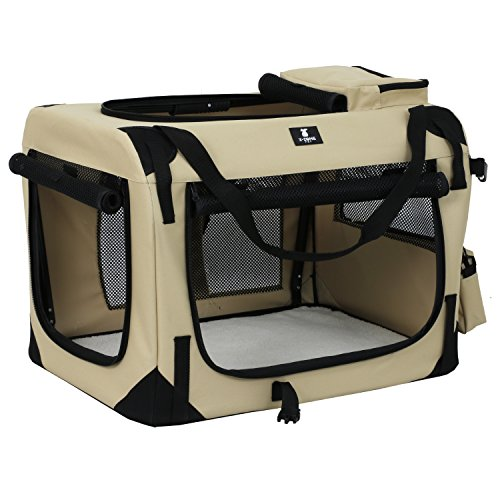 X-ZONE PET 3-Door Folding Soft Dog Crate, Indoor & Outdoor Pet Home, Multiple Sizes and Colors Available by X-ZONE PET (Image #3)