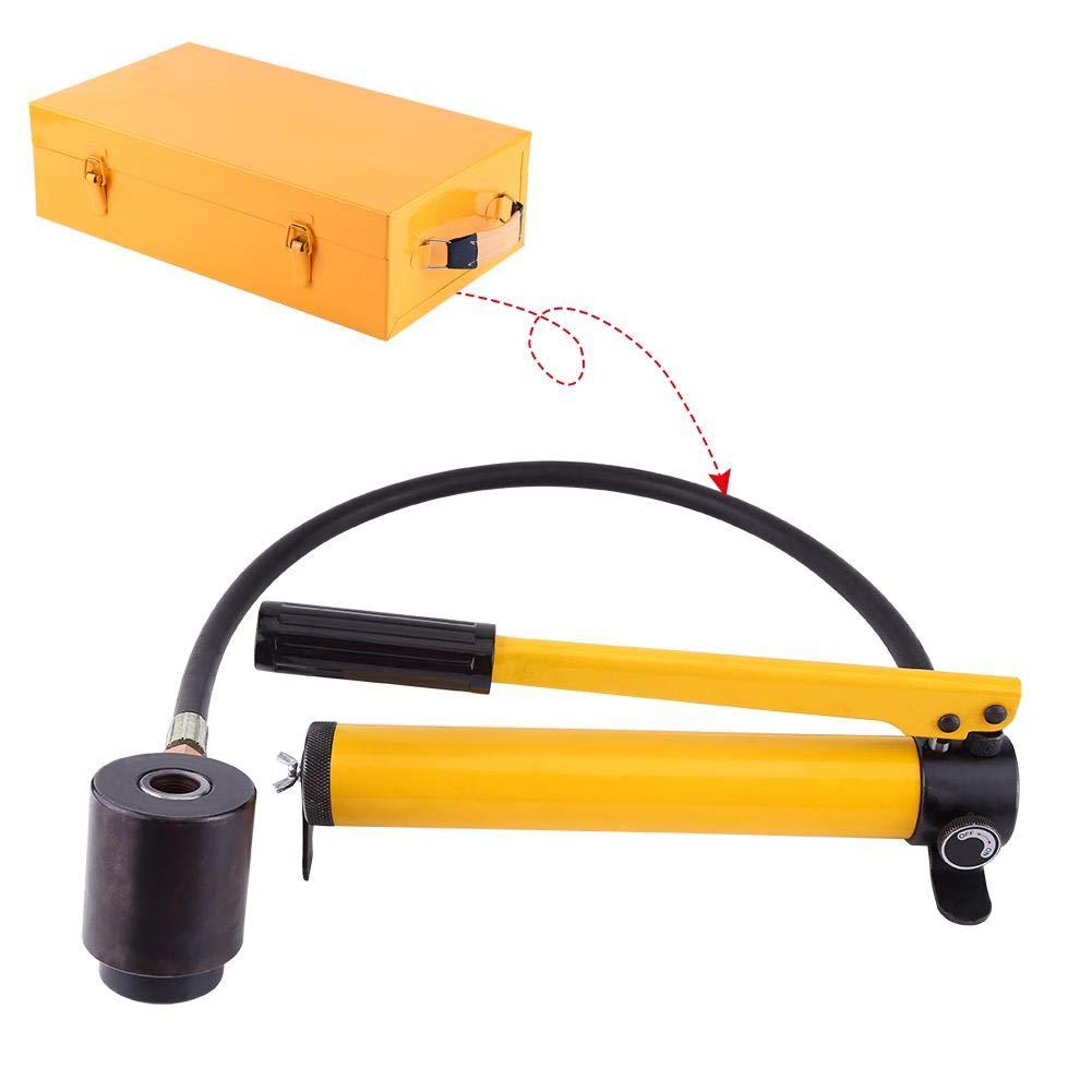 Perforador de orificio hidr/áulico herramienta manual de mano de metalister/ía con kit de taladro de orificio redondo hidr/áulico manual con 6 matrices de /Φ22 a /Φ60mm