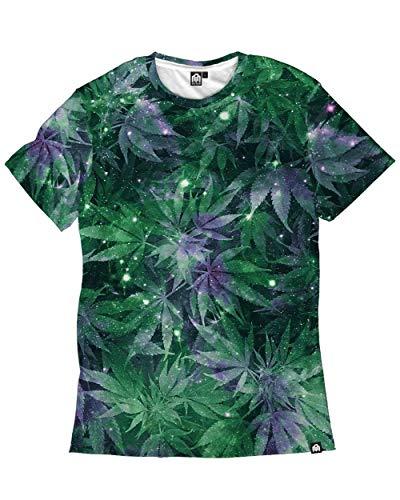 INTO THE AM Ganja Galaxy Men's Casual Tee Shirt (Green, 4X-Large) ()