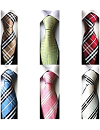 WeiShang Lot 6 PCS Classic Men's 100% Silk Tie Necktie Woven JACQUARD Neck Ties