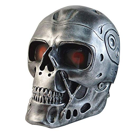 Military Army Tactical Airsoft Skull Skeleton Full Protective Mask CS Hunting Paintball Halloween Party Face Mask Cosplay Props -