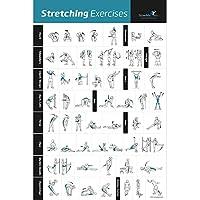 Estiramiento Póster de ejercicios Laminated–shows how para estirar los músculos específicas para su Workout–Gimnasio en casa Fitness Guía