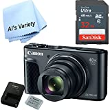 Canon SX730 Digital Camera w/40x Optical Zoom & 3 Inch Tilt LCD - Wi-Fi, NFC, & Bluetooth Enabled (Black) with Free SanDisk Ultra 32GB SDHC Class 10 Card