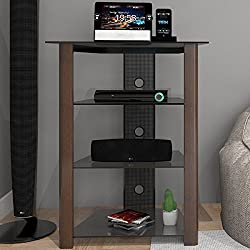 Ryan Rove Ashton Multi-Level Component Stand in Wood Espresso with Cable Management System