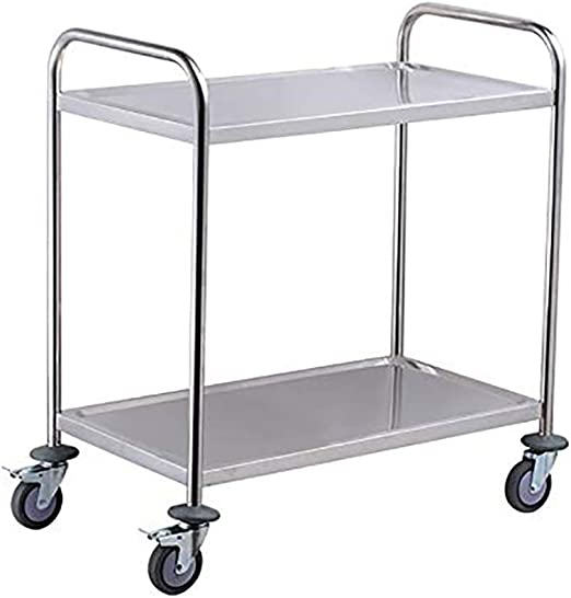 Storage Cart Dishes Storage Metal Rolling Rack Trolley with Wheels Kitchen Home