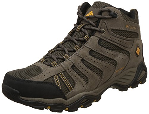Columbia Men's North Plains II Waterproof MID Hiking Boot, Mud, Squash, 11 D US (Boots Men Columbia Hiking For)
