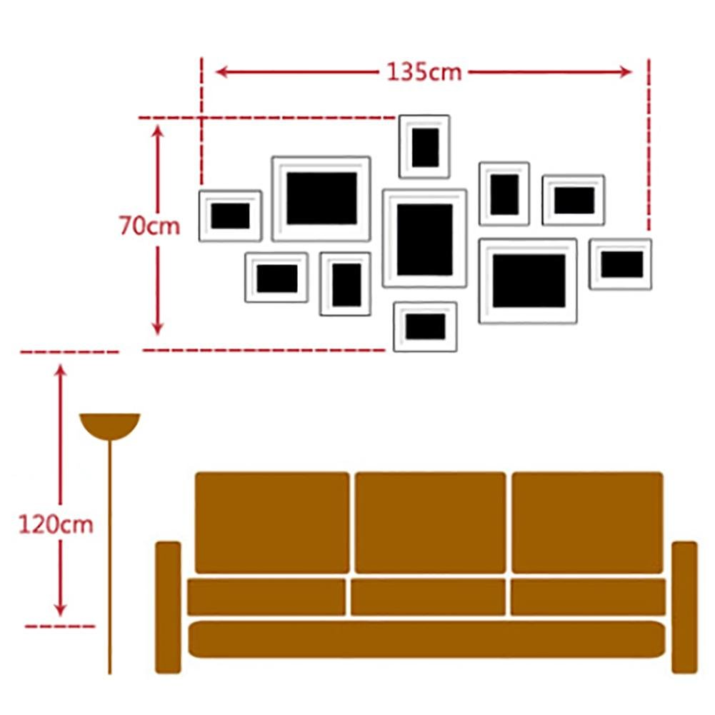 WillST 11 Multi Aperture Photo Frame Wooden Set Modern Simplicity Style Creative Photo Wall , d by Unknown (Image #2)
