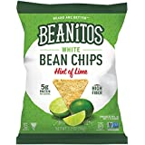 Beanitos Hint of Lime Bean Chips with Sea Salt Plant Based Protein Good Source Fiber Gluten Free Non-GMO Vegan Corn Free Tortilla Chip Snack 1.2 Ounce (Pack of 24)